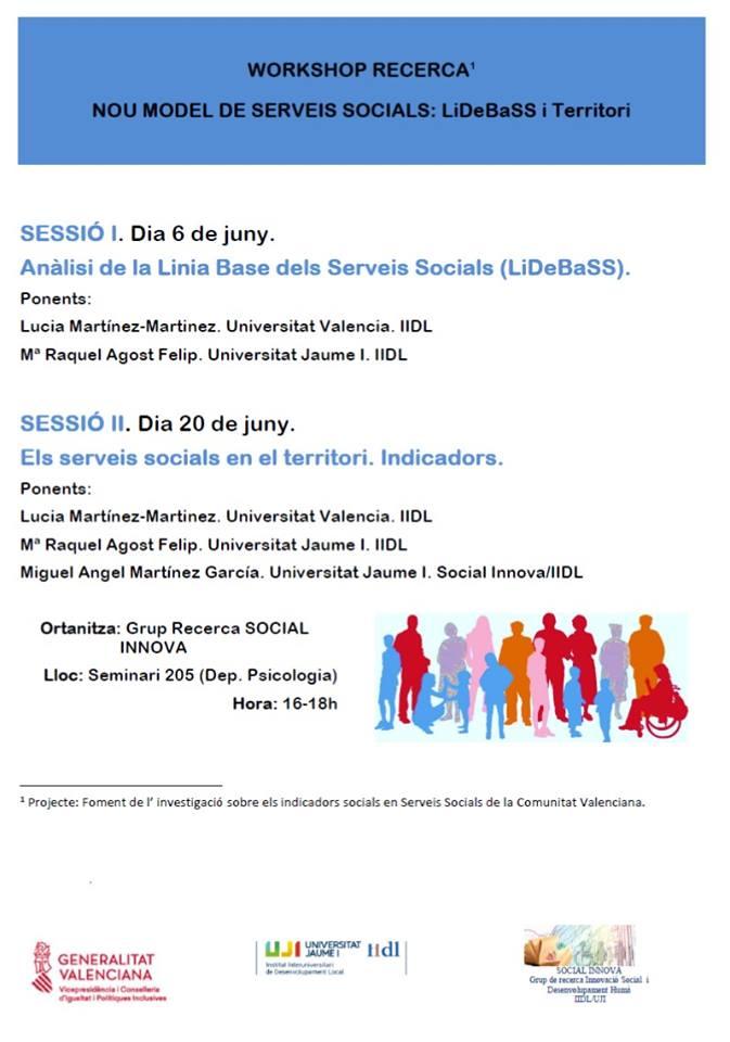 Workshop Recerca. Nou Model de Serveis Socials: LiDeBaSS i Territori